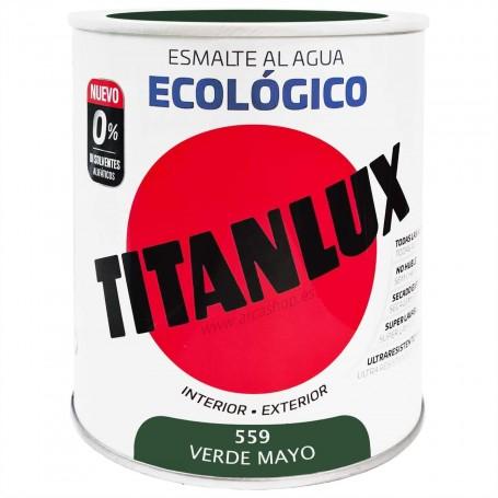 VERDE MAYO 559 Esmalte TITANLUX Ecológico al Agua. Brillante, mate y Satinado.