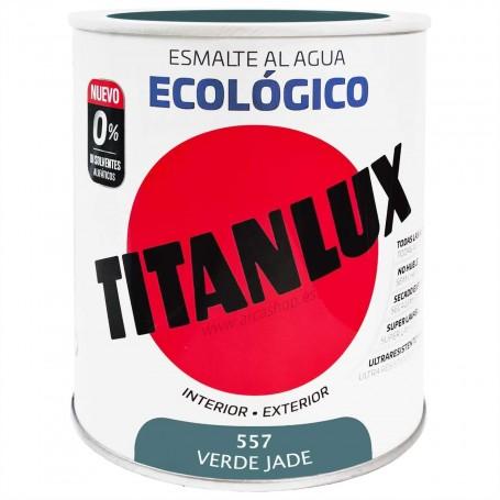 VERDE JADE 557 Esmalte TITANLUX Ecológico al Agua. Brillante, Mate y Satinado.