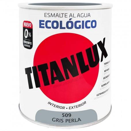 GRIS PERLA 509 Esmalte TITANLUX Ecológico al Agua. Brillante, Mate y Satinado.