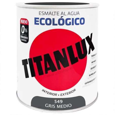 GRIS MEDIO 549 Esmalte TITANLUX Ecológico al Agua. Satinado.