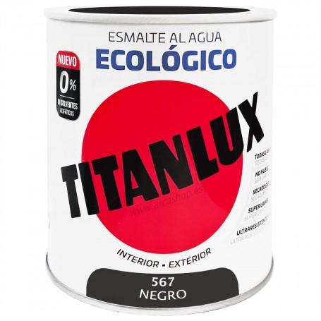 NEGRO 567 Esmalte TITANLUX Ecológico al Agua. Brillante, Mate y Satinado.