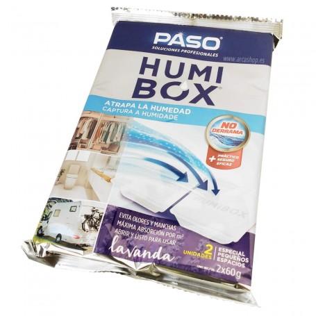 Atrapa humedad Humi Box Lavanda 2 bandejas pequeñas espacios pequeños.