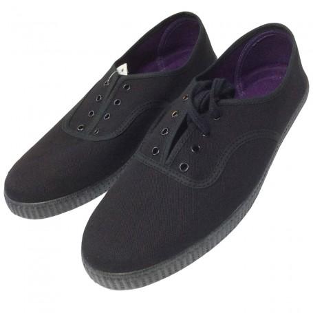 Zapatillas tela de Nazareno y Costalero Suela de caucho goma Negro
