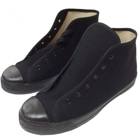 Zapatillas Basket Bota tela de Nazareno y Costalero Suela de caucho goma Negro