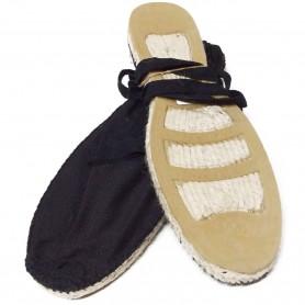 Zapatillas Esparto tela de Nazareno y Costalero Suela de caucho goma Negro