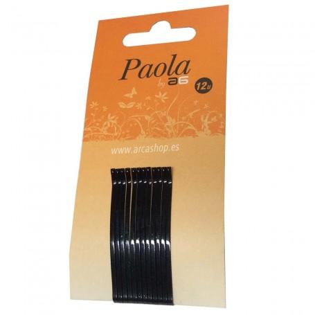 Horquillas Clic Lisas Negras Normales para el cabello
