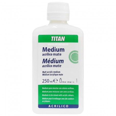 Medium Acrílico Mate Titan