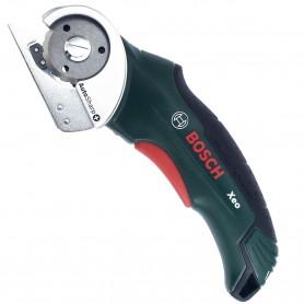 Bosch Litio Xeo Cortadora Universal para cortar moquetas, fieltros, cartón, alfombras, etc, hasta 6 mm de corte. Sin cables.