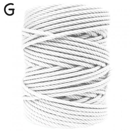 Cuerda Plástico blanca Persianas y tendederos