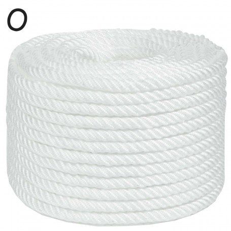 Cuerda Polipropileno Torcida 4 Cabos Pozo Nylon Blanca