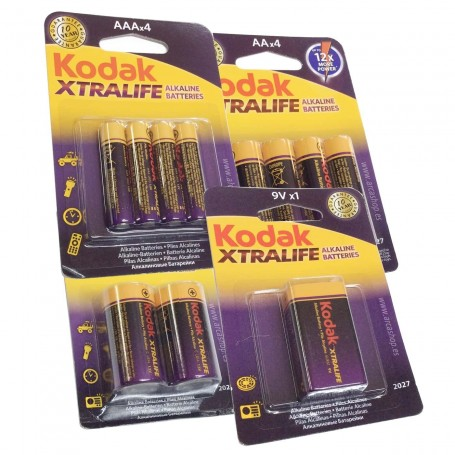 Pilas AAA 1,5 V Alcalinas Kodak Xtralife Larga duración