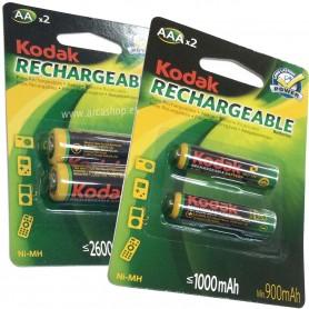Pilas Kodak Recargables AAA1.2V (≤ 2600 mAh)