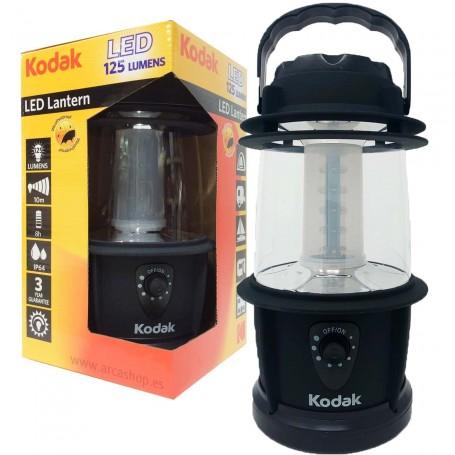 Lámpara Led portátil Kodak (diseño tipo farolillo candil), 125 lúmenes y 10 m diámetro de alcance
