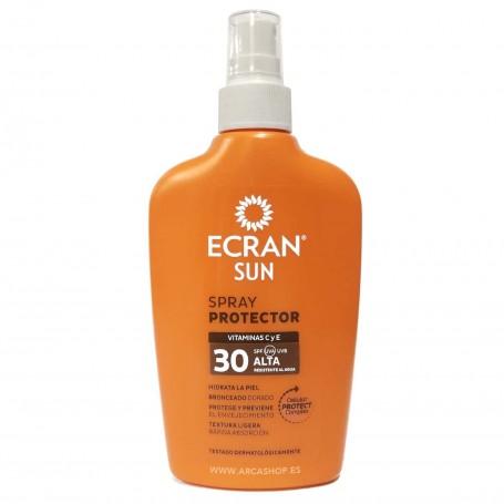 Spray Protector Solar Ecrain Sun SPF UVA UVB 30 Protección Alta -  200 ml Vitamina C y E