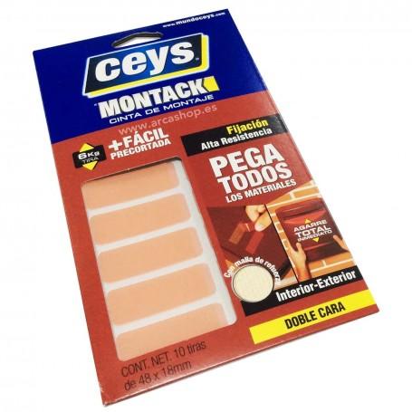 Tiras adhesiva doble cara Ceys Montack. Multiusos.
