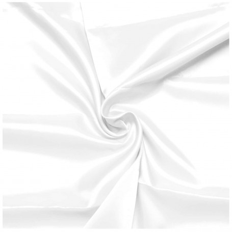 Tela de Forro BLANCA 100% poliester-acetato. Forro interior prendas.