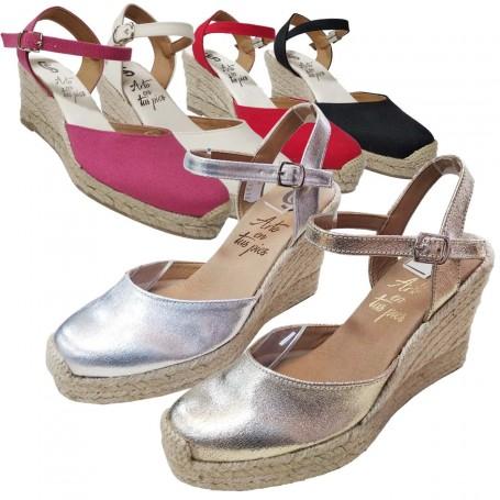 Zapatos de Esparto con Cuña Flamenca Casori
