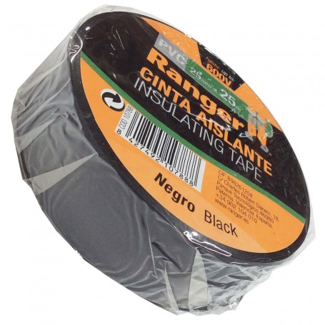 Cinta Aislante PVC Negra Ranger Instalaciones eléctricas