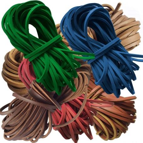 Cordón Náutico Cuero Zapatos Colores