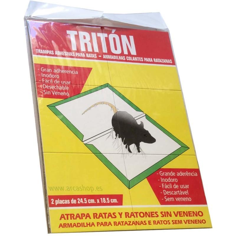 Tritón, trampas adhesivas cartón grande para ratas y ratones