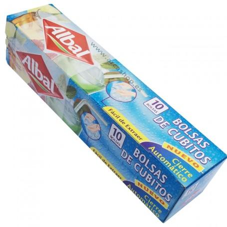 Bolsas de cubitos de hielo Albal Fácil de llenar de agua, autocierre y fácil extracción de los cubitos.