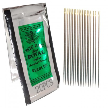 Agujas Nickel Plated Best Royal, son agujas para coser y zurcir. Nº disponibles: nº7, nº9, nº10 y nº12.