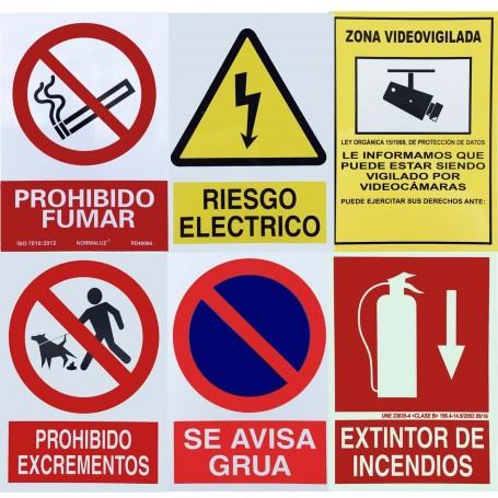 Carteles Señalítica Informativa, Advertencia y Prohibición.
