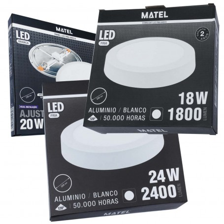 Panel Plafón de Luz Downlight LED Redondo Matel