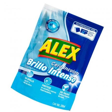 Cera Alex  Incolora en bolsa 200 ml.  Brillo e impermeabilización suelos.