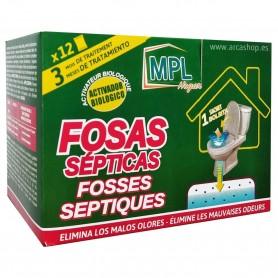 Bolsitas Fosas Sépticas MPL. Activador Biológico. Disuelve residuos sólidos, elimina olores y previene atascos.