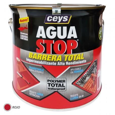 Agua Stop Ceys Pintura Roja Impermeabilizante 4 kg