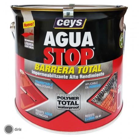 Agua Stop Ceys Pintura Gris Impermeabilizante 4 kg