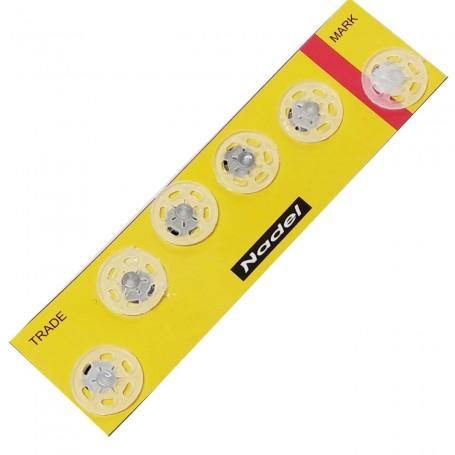 Broche Presión Plástico Transparente Unión textil Kohinoor botón presión invisible 15 mm