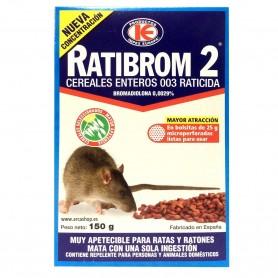 Raticida Ratas y Ratones Ratibrom 2 Cereales enteros