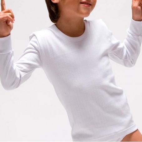 Camisetas manga larga interior blanca de Niño de 2 a 16 años. Rapife.