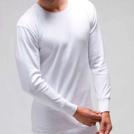 Camisetas Interior Blanca Manga Larga Invierno Otoño Caballero Rapife