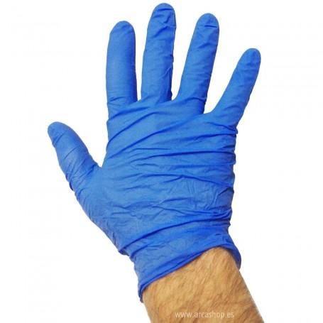 Guantes de examen Nitrilo Azul sin Polvo, no estériles
