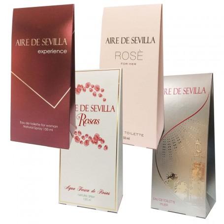 Aire de Sevilla Clásica, Aire de Sevilla Rosas, Aire de Sevilla Rose y Aire de Sevilla Experience, de Instituto Español.