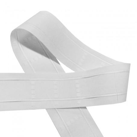 Cinta Tablas Blanco para cortinas