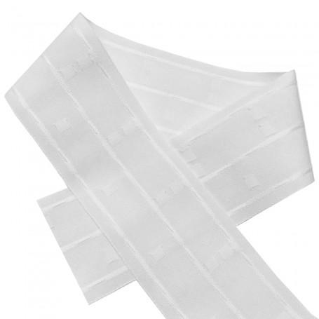 Cinta Abeja Blanco para cortinas