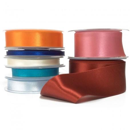 Cinta Satén Raso Doble Cara P&B Gama colores y anchos completa.