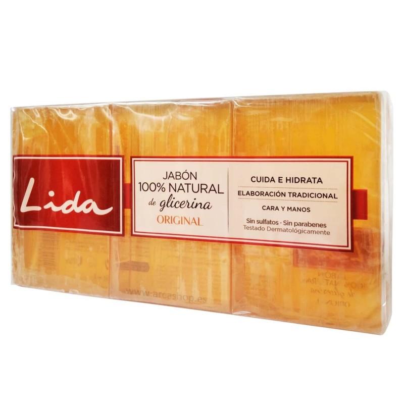 Pastilla jabón 100% Natural de Glicerina y Aloe Vera Lida