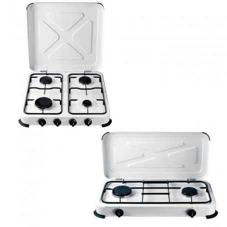 Cocina a Gas Portátiles de 2 Fuegos Vivahogar VH99260 60x30 cm aprox.