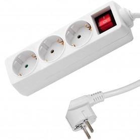 Alargadera con base 3 tomas e interruptor. Bases Multiples Eco Sockets de Famatel