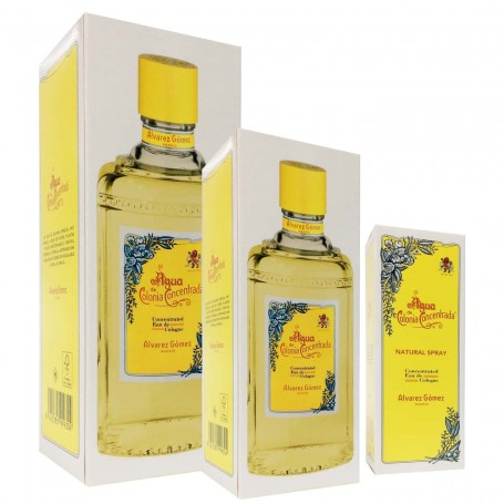 Alvarez Gómez Clásico Agua Colonia Concentrada Unisex 80 ml spray , 300 ml y 750 ml granel.