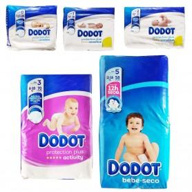 Pañales DODOT de 1,5 a 2,5 kg Bebé Culito y piel no irritada, seco y piel cuidada.