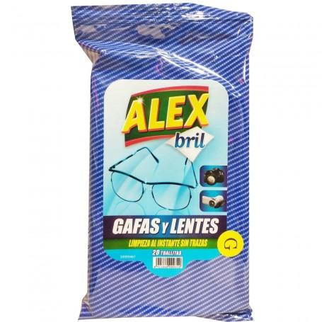 Toallitas para limpieza de gafas y lentes sin trazas ALEX