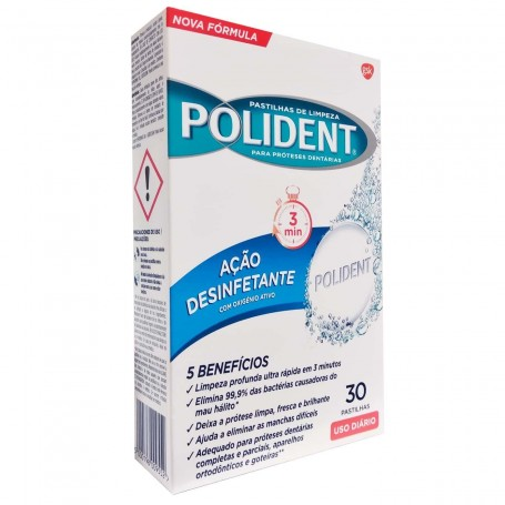 POLIDENT Pastillas limpiadoras de prótesis dentales