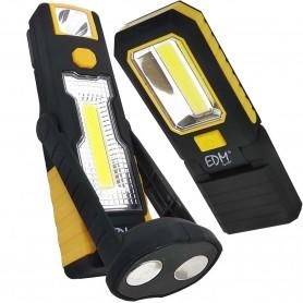 Linterna doble Lámpara Led EDM COB XL 360º imán y cabezal 180º