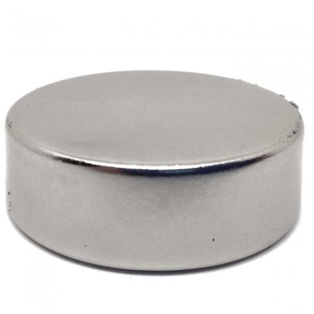 Imán Neodimio Circular 28x10mm potente unión sobre metales